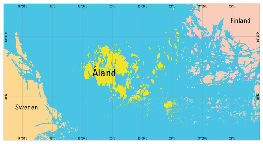 Understanding Time Zones Time Genies Encyclopedia - Aland islands political map