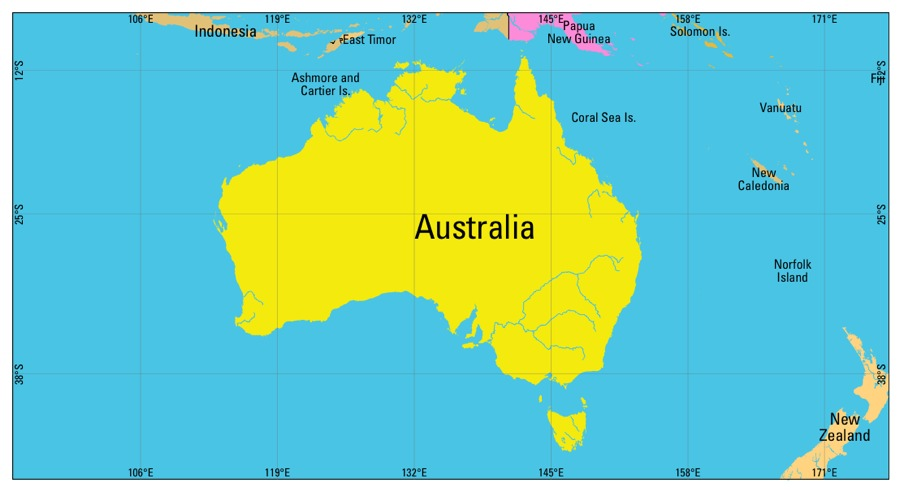 Australia Map Time Zones.Time Zones In Australia Time Genie S Encyclopedia