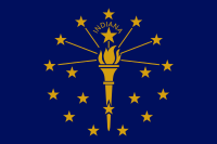Flag of Indiana, United States