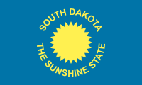 Flag of South Dakota, United States