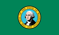 Flag of Washington State, United States