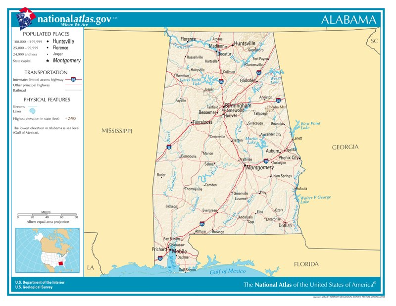 Time Zones in Alabama — Time Genie's Encyclopedia