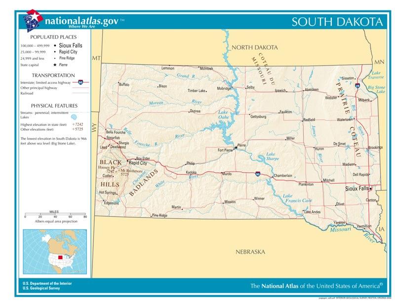 Time Zones In South Dakota  Time Genie39s Encyclopedia