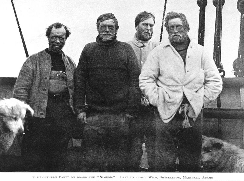 From left to right: Wild, Shackleton, Marshall and Adams.